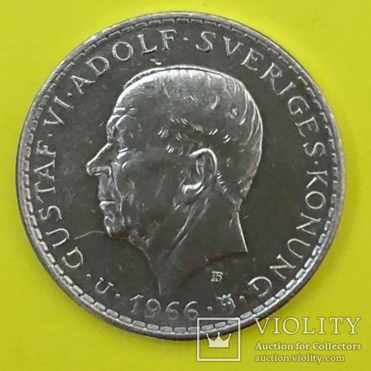 Швеція 5 крон, 1966 100-річчя Конституційній реформі, фото №2