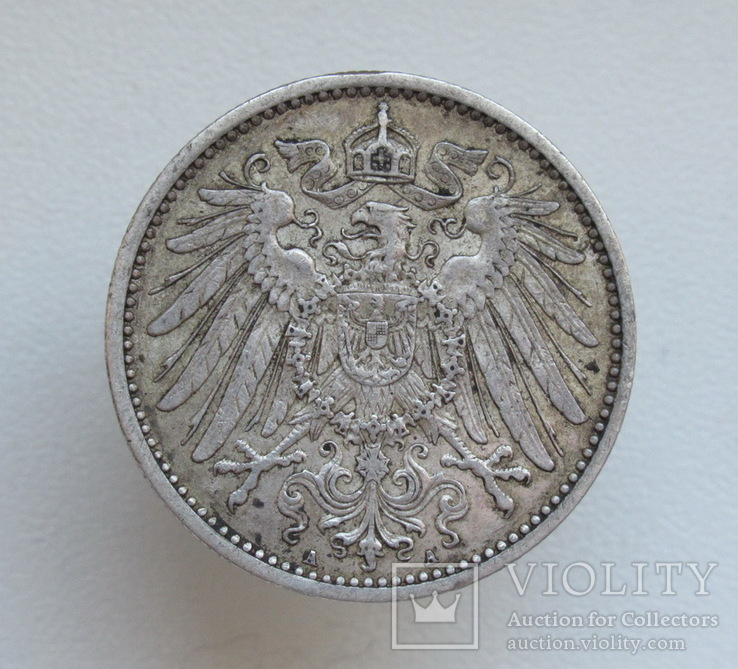 1 марка 1900 г. (А), Германия, серебро, фото №9