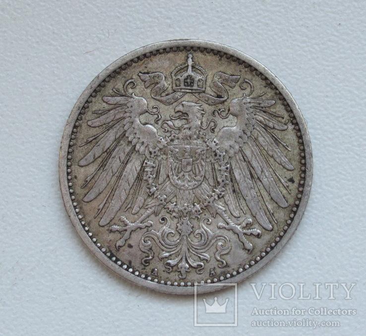 1 марка 1900 г. (А), Германия, серебро, фото №10