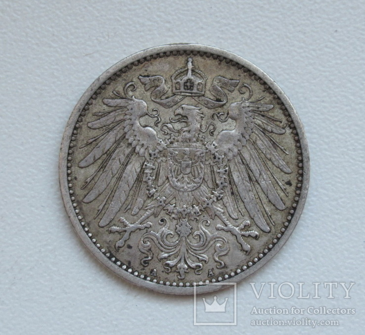 1 марка 1900 г. (А), Германия, серебро, фото №11