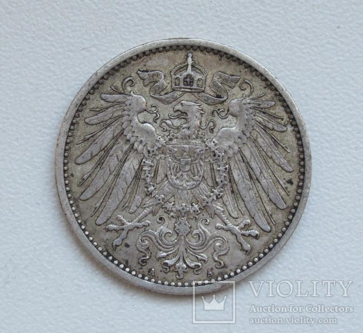 1 марка 1900 г. (А), Германия, серебро, фото №12