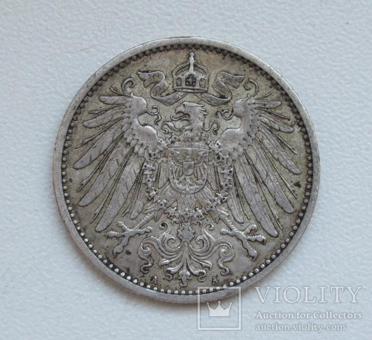 1 марка 1900 г. (А), Германия, серебро, фото №13