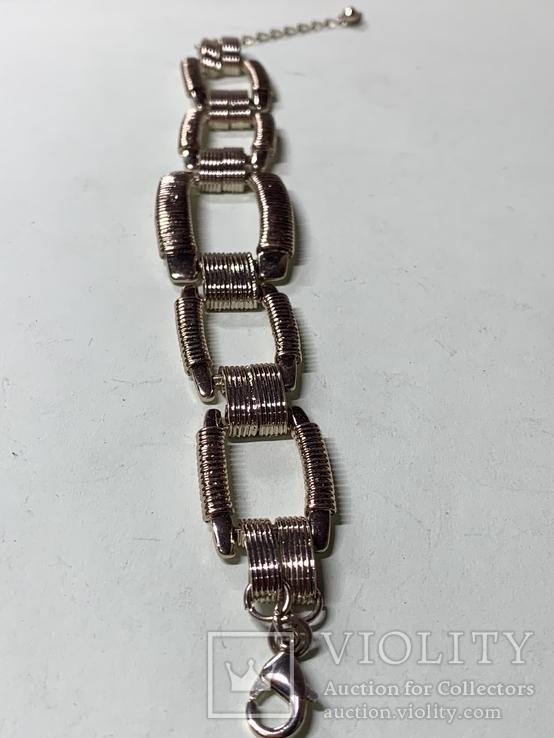 Винтажный золотистый браслет с Англии, фото №3