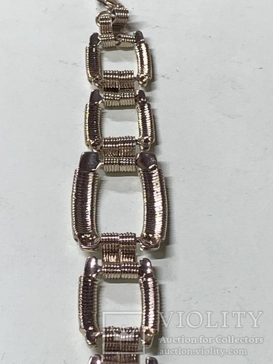 Винтажный золотистый браслет с Англии, фото №7