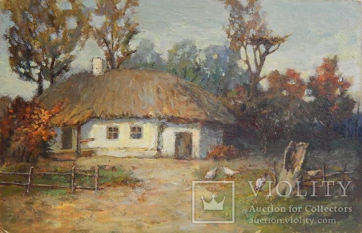 Сельский пейзаж. Картина маслом (5)