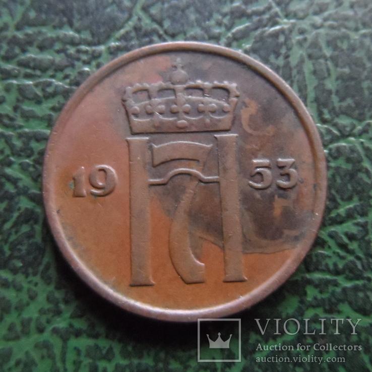 2  эре  1953  Норвегия   (6.2.17)~, фото №2