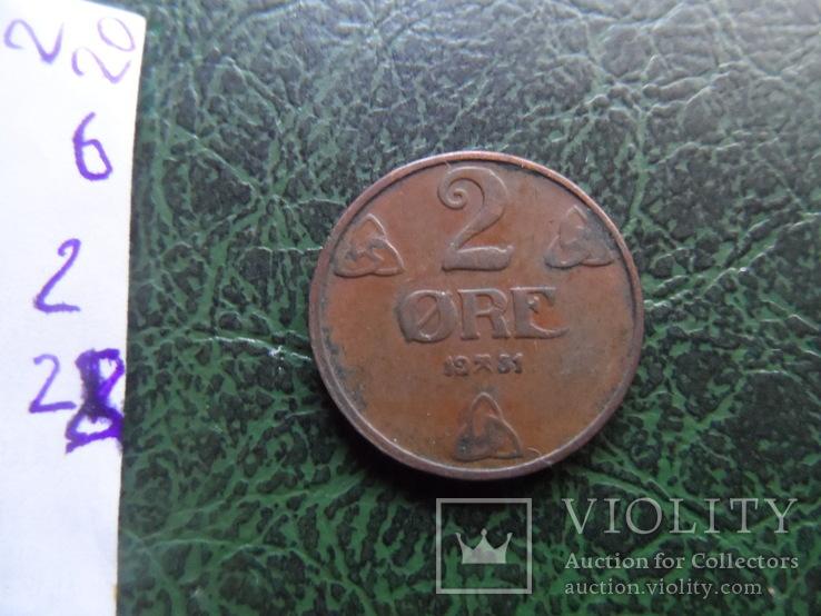 2  эре  1951  Норвегия   (6.2.28), фото №4