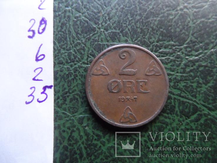 2  эре  1947  Норвегия   (6.2.35), фото №4