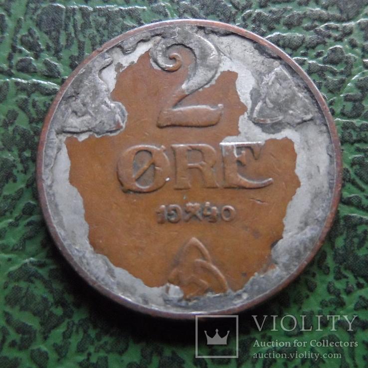 2  эре  1940  Норвегия   (6.2.43), фото №2