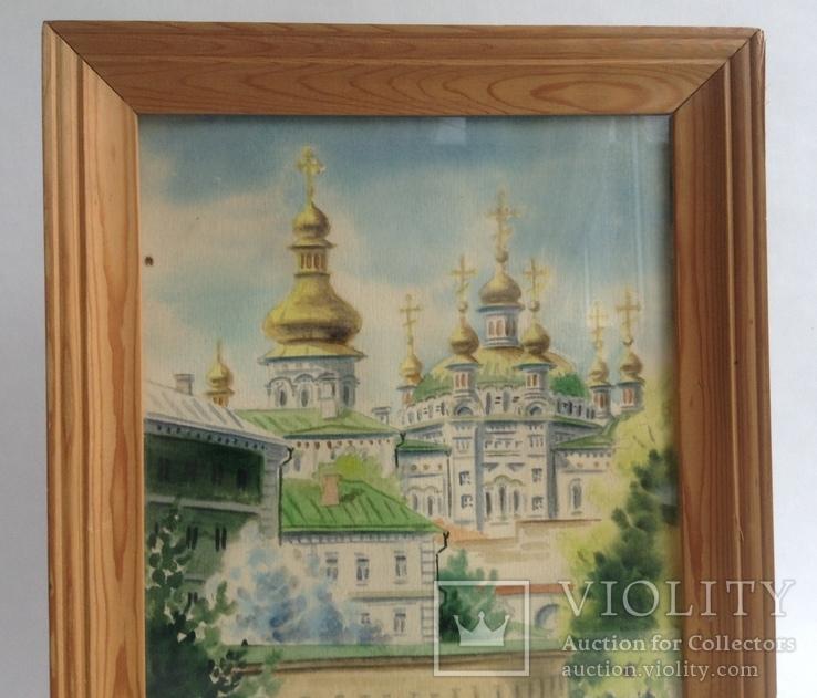 Картина Лавра. Под стеклом. Автор Писаренко В. Л. 1993 год., фото №3