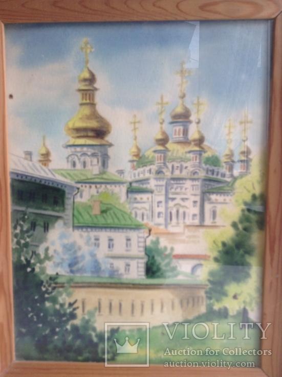 Картина Лавра. Под стеклом. Автор Писаренко В. Л. 1993 год., фото №5