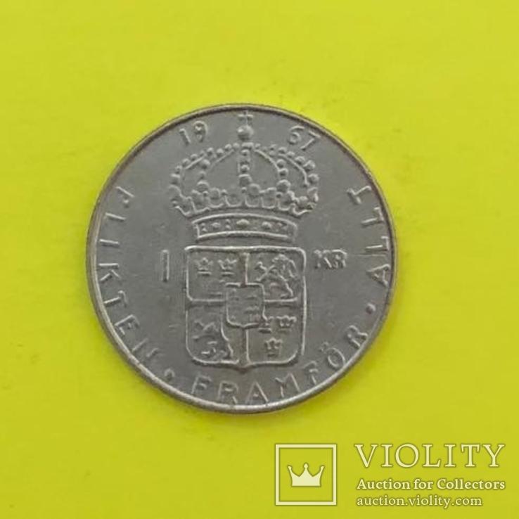 1 Крона 1967р. Срібло., фото №3