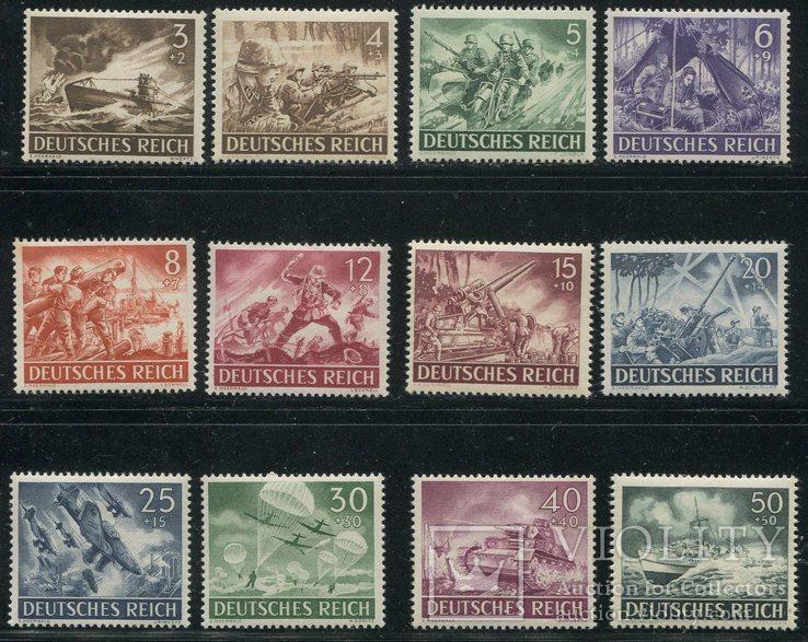 1943 Рейх Вермахт полная серия MNH
