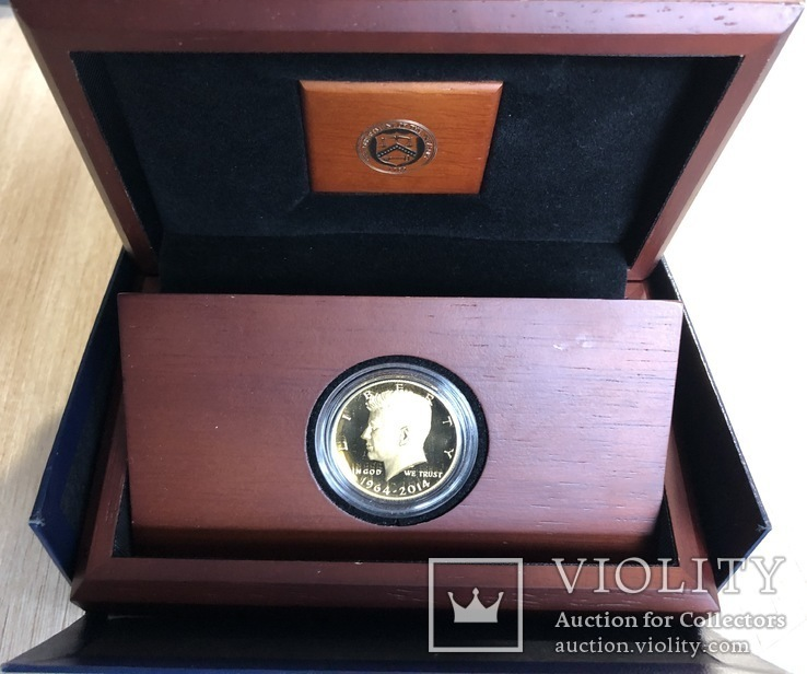 Пол доллара 2014 год США золото 23,328 грамм 999,9`, фото №2