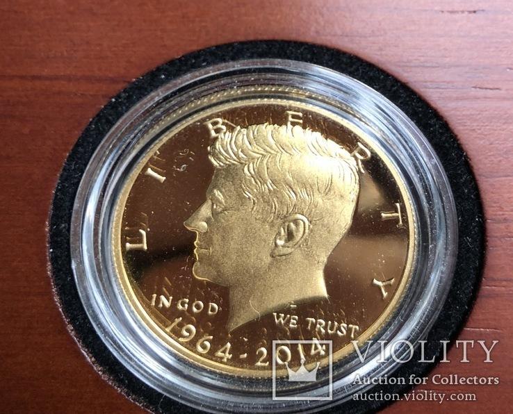 Пол доллара 2014 год США золото 23,328 грамм 999,9`, фото №3