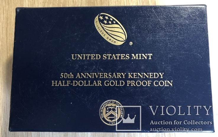 Пол доллара 2014 год США золото 23,328 грамм 999,9`, фото №6