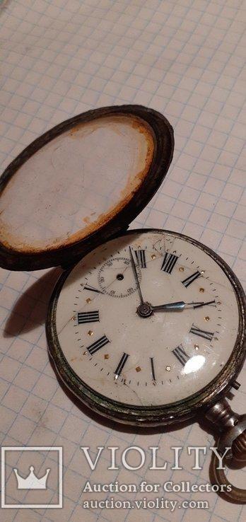 Часы 800 пробы с позолотой