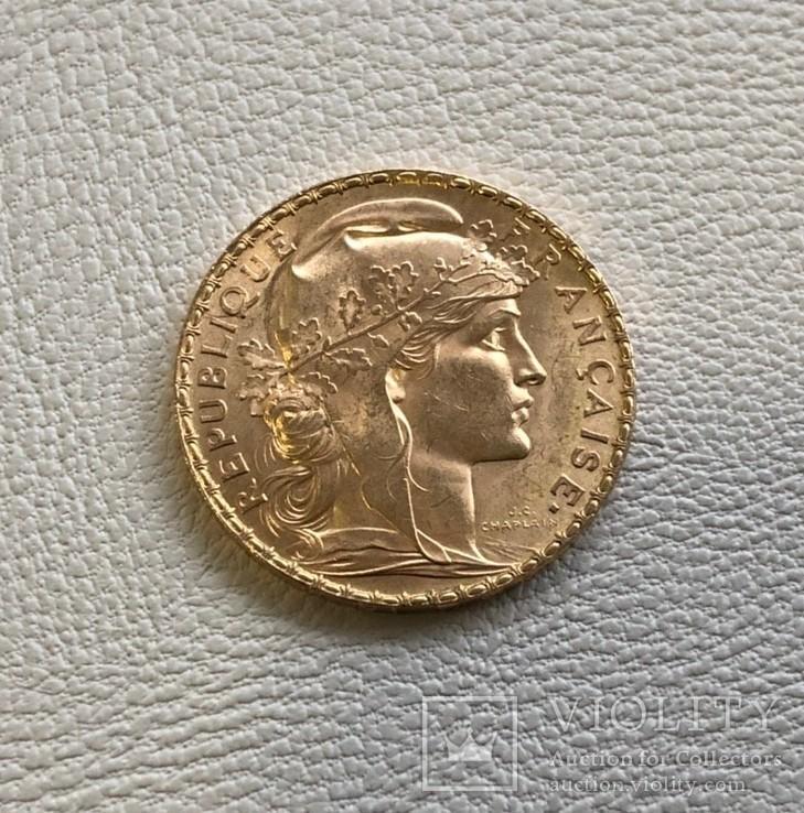 Франция 20 франков 1912 год золото 900'