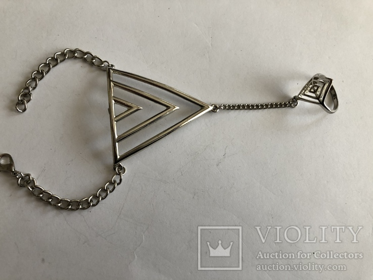 Слейв браслет с кольцом на цепочке, фото №6
