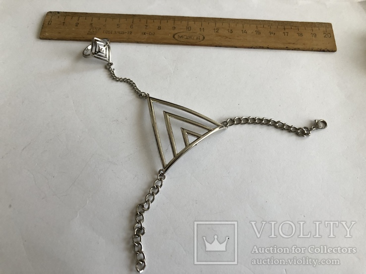 Слейв браслет с кольцом на цепочке, фото №7