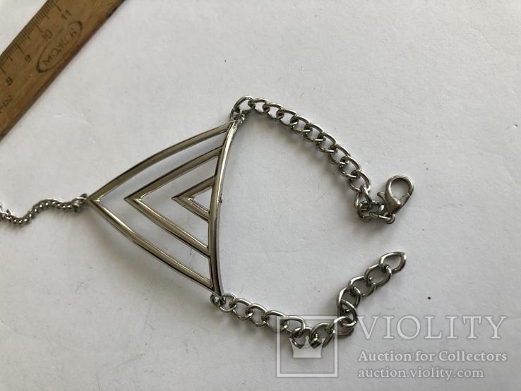 Слейв браслет с кольцом на цепочке, фото №9