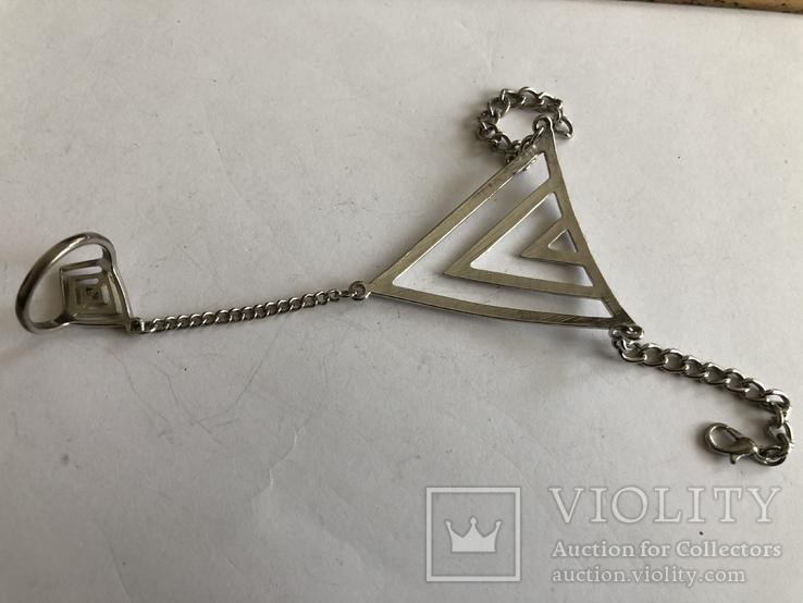 Слейв браслет с кольцом на цепочке, фото №10