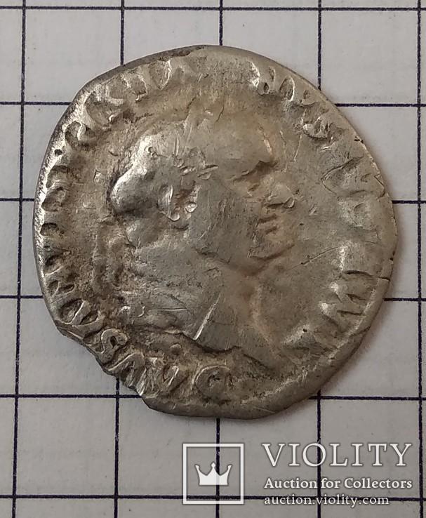 Веспасиан, реверс Кадуцей, фото №2