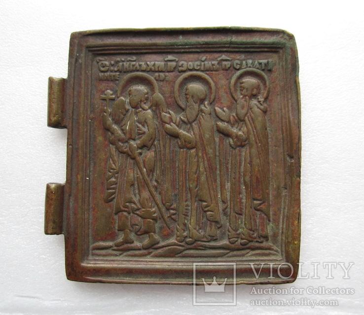 Створка складня / Ангел-Хранитель / Преподобные Зосима и Саватий, фото №2