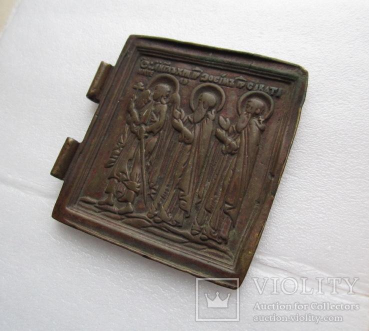 Створка складня / Ангел-Хранитель / Преподобные Зосима и Саватий, фото №5