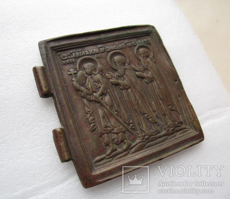 Створка складня / Ангел-Хранитель / Преподобные Зосима и Саватий, фото №6