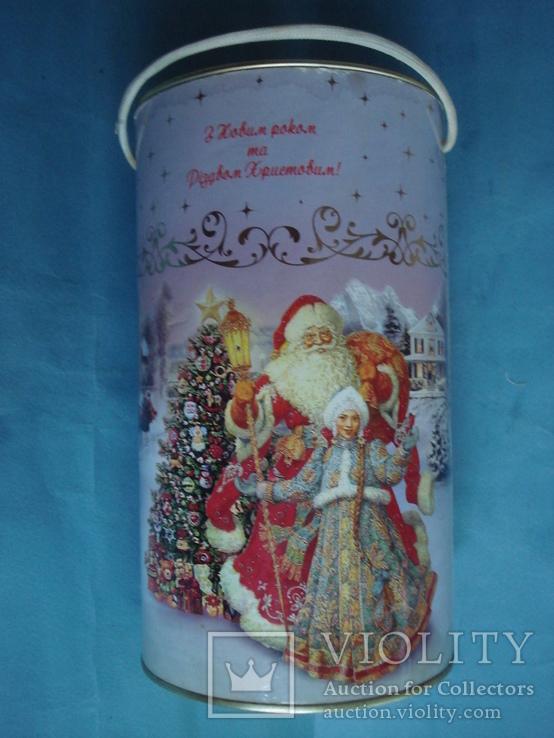 Круглая банка от Новогоднего подарочного набора., фото №5