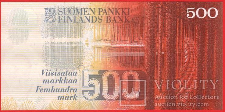 500 Марок 1986 Litt. A, Финляндия UNC, фото №3