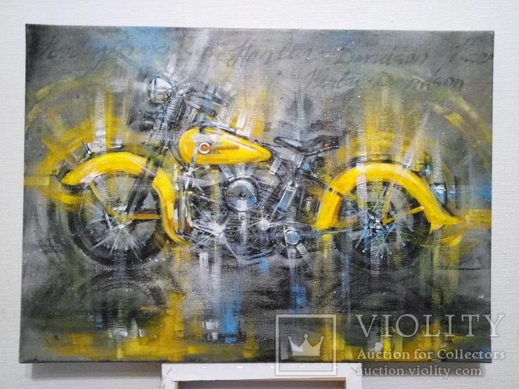 Картина Harley-Davidson Художник Ellen ORRO холст/акрил 50х70 2019 г., фото №3