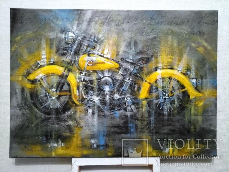 Картина Harley-Davidson Художник Ellen ORRO холст/акрил 50х70 2019 г., фото №4
