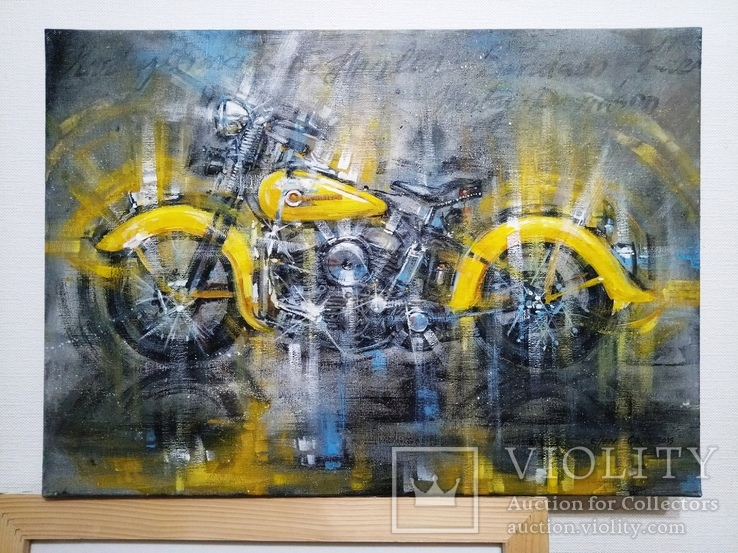 Картина Harley-Davidson Художник Ellen ORRO холст/акрил 50х70 2019 г., фото №7