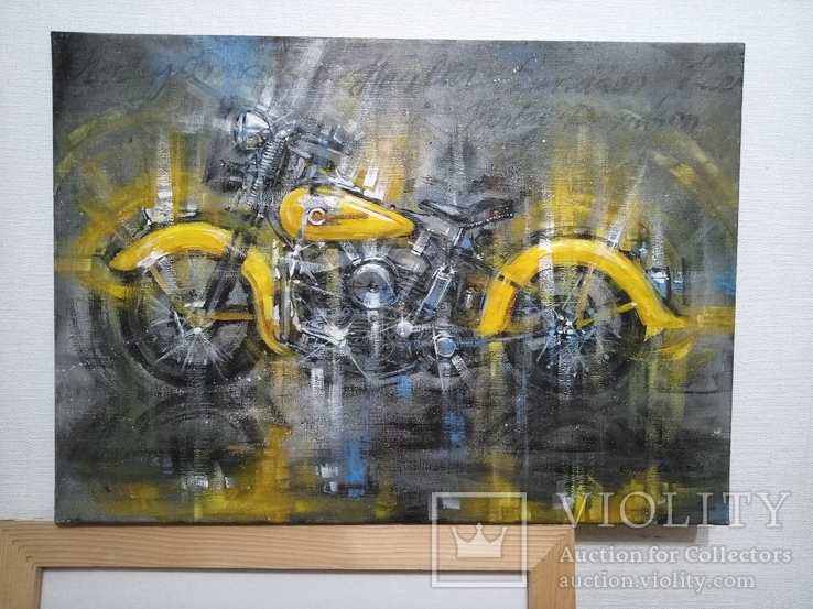Картина Harley-Davidson Художник Ellen ORRO холст/акрил 50х70 2019 г., фото №8