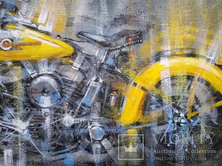 Картина Harley-Davidson Художник Ellen ORRO холст/акрил 50х70 2019 г., фото №11