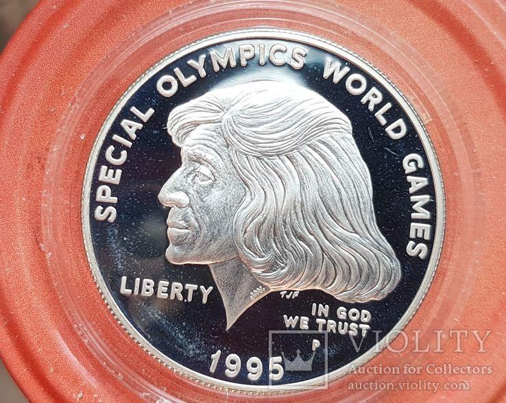 США 1 доллар 1995 г. Олимпийские игры, Спорт. Пруф, фото №2