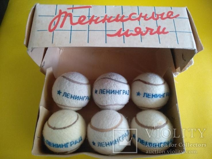 Упаковка Мячи теннисные Ленинград, производитель завод РТИ красный треугольник 1978 г., фото №2