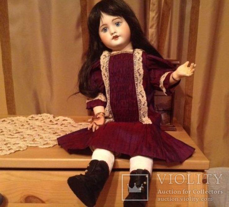 Антикварная кукла SFBJ 60. Рост 56 см. Опилки., фото №2