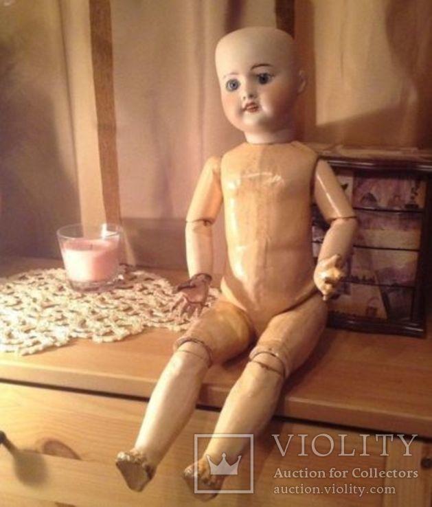 Антикварная кукла SFBJ 60. Рост 56 см. Опилки., фото №3