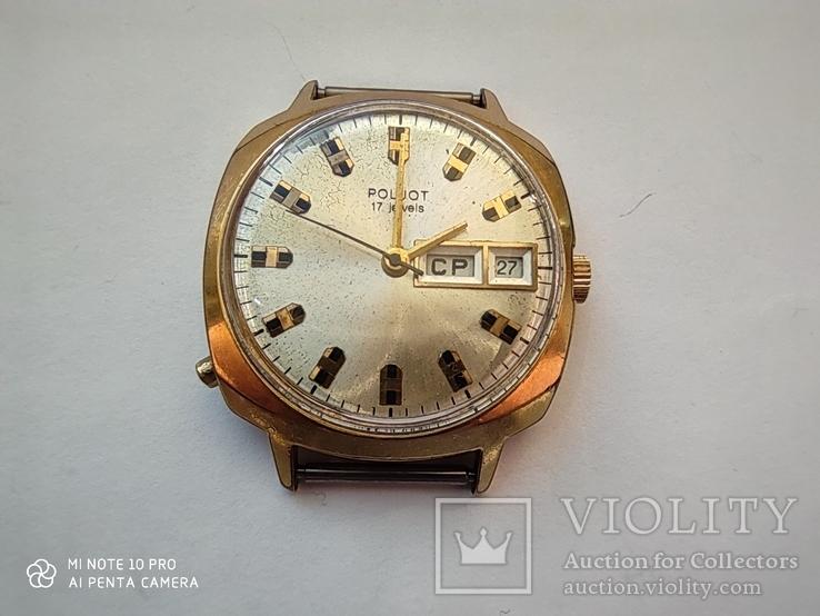 Часы Полет Poljot 17 jewels  made in USSR. позолота Au10