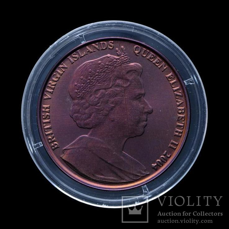 5 Долларов 2004 Марка с Парусником, Британские Виргинские Острова Титан, фото №3