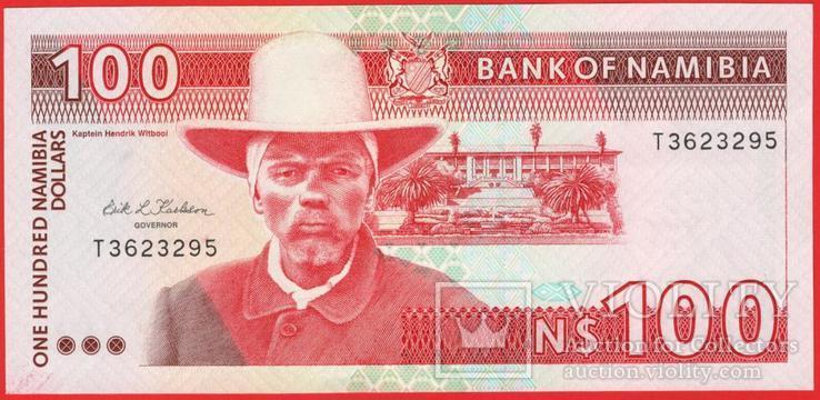 100 Наира 1993, Намибия UNC, фото №2