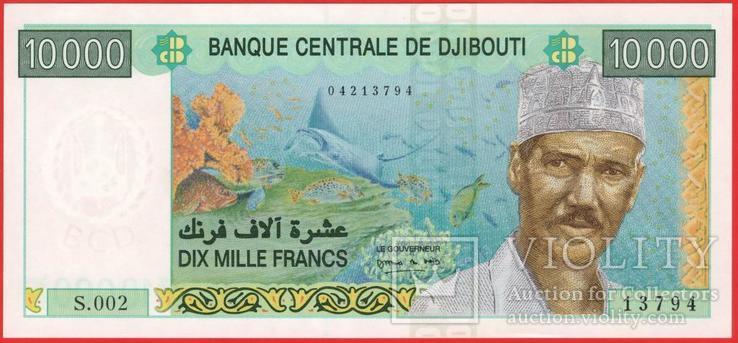 10000 Франков 2009,  Джибути UNC, фото №2