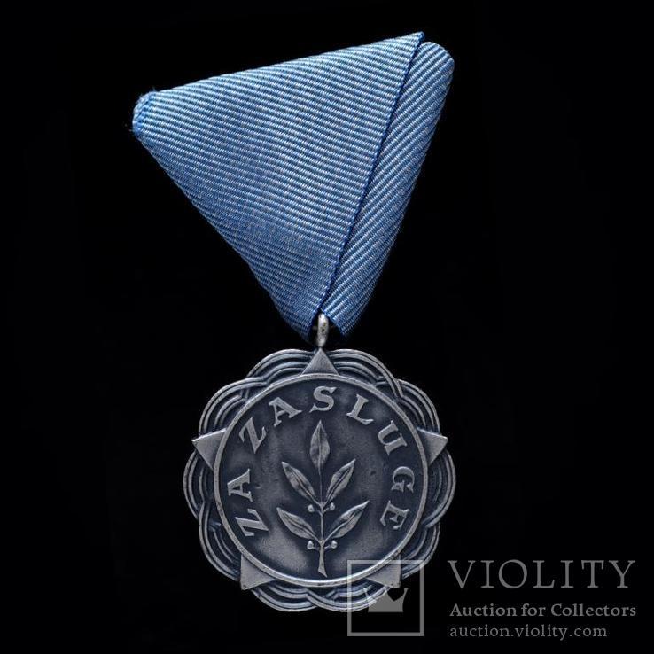 Медаль За Заслуги Тип 1 - FNRJ, Югославия 845 награждений, фото №2