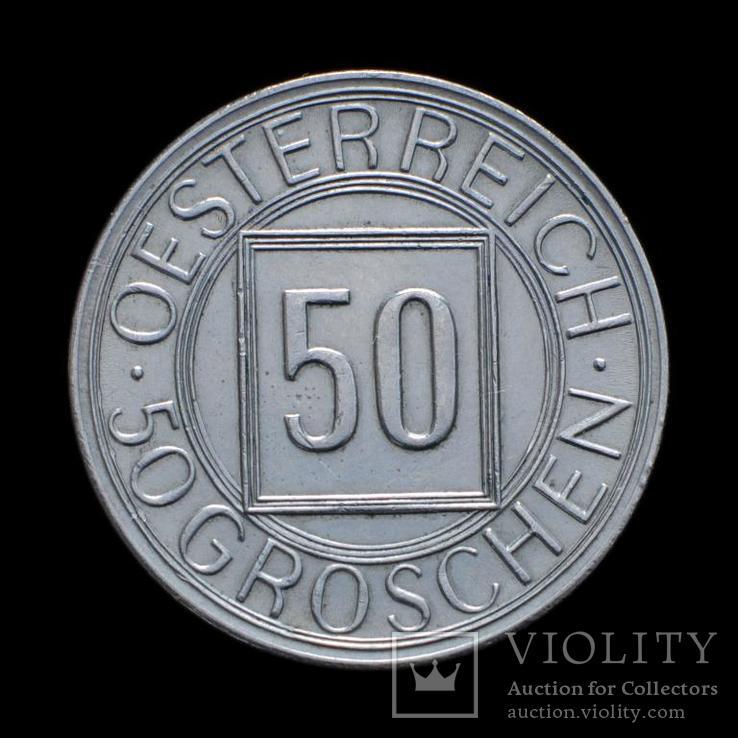 50 Грошен 1934, Австрия, фото №3