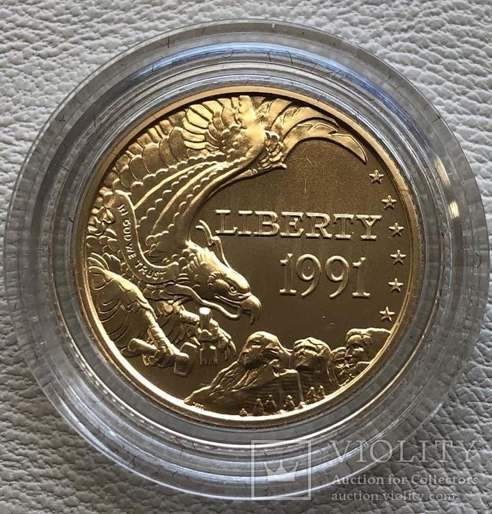США 5 $ 1991 год золото 8,35 грамм 900', фото №2
