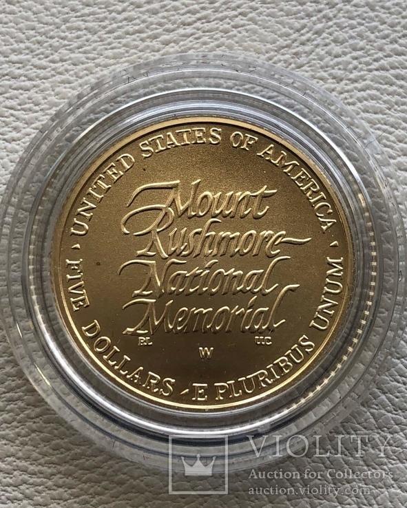 США 5 $ 1991 год золото 8,35 грамм 900', фото №3
