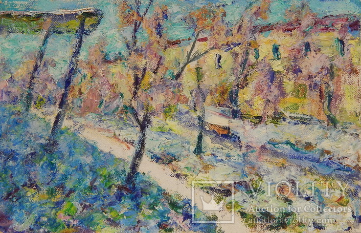 Городской пейзаж. Картина маслом на холсте (3)